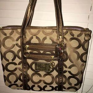 Brown Poppy Coach bag